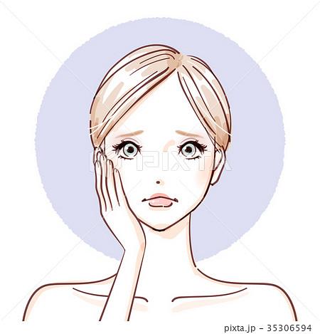 beauty woman_hands on cheeks negative 35306594