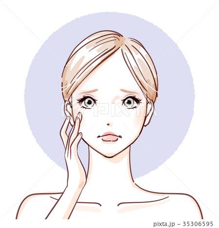 beauty woman_hands on cheeks Point negative 35306595