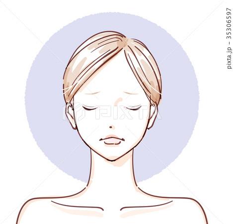 beauty woman_non make up closed eyes negative 35306597