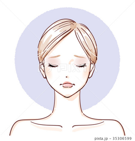 beauty woman_After make up closed eyes negative 35306599