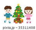 人物 子供 クリスマスのイラスト 35311408