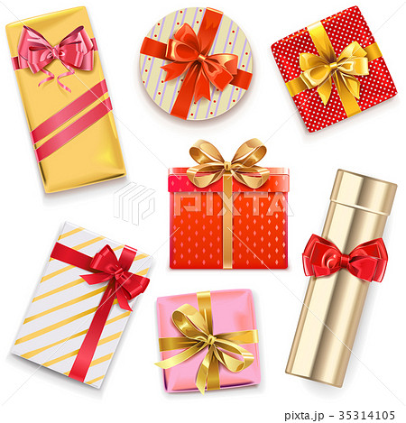 Vector Glossy Gift Boxes 35314105