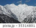 北アルプス・爺ヶ岳の登りから見る針ノ木岳 35314801