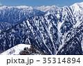 後立山連峰・爺ヶ岳の登りから眺める槍・穂高連峰 35314894