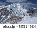 爺ヶ岳稜線から望む北アルプス・鹿島槍ヶ岳 35314984