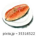 パン 調理パン 水彩のイラスト 35316522