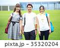 大学生 男女 笑顔の写真 35320204