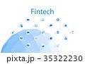 フィンテック シンボル FINのイラスト 35322230