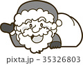 サンタクロースのイラスト素材(白黒/モノクロ) 35326803