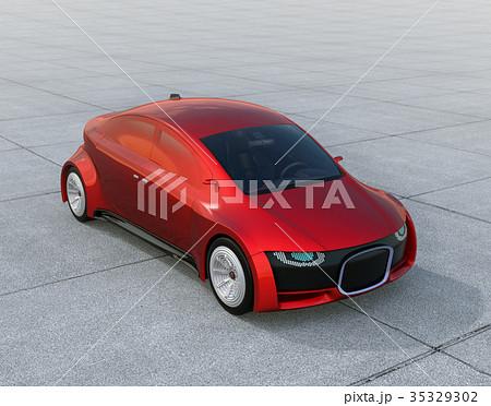 自動運転車のフロント部にデジタル情報表示で車と歩行者のコミュニケーションを図るコンセプト 35329302