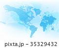 世界 地図 グローバルのイラスト 35329432