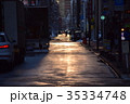 夕日の裏道 35334748