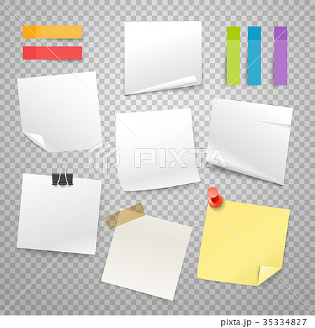 Many blank paper stickers vector collection 35334827