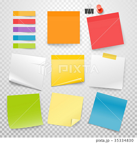 Different color paper stickers vector collection 35334830