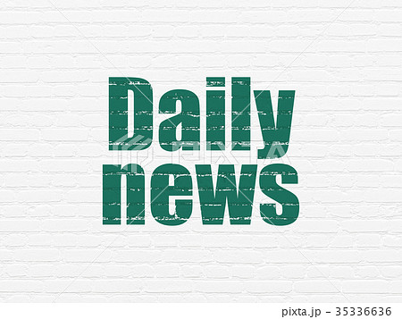 News concept: Daily News on wall background 35336636