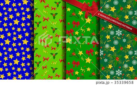 set of christmas backgroundsのイラスト素材 35339658 pixta