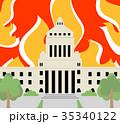 国会 炎背景 35340122