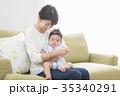 親子 母親 赤ちゃんの写真 35340291