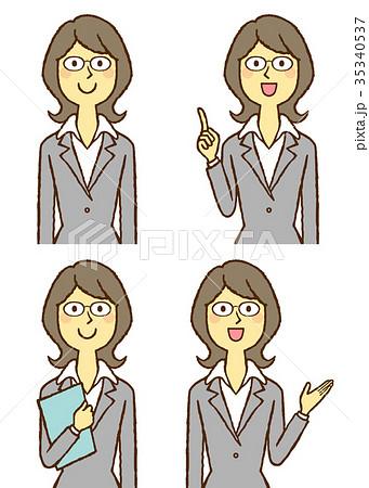 スーツの若い女性 OL 35340537