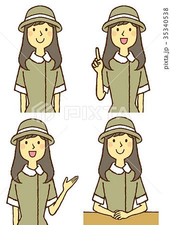 制服の若い女性 35340538