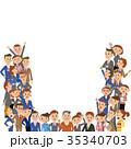 大勢の会社員 35340703
