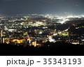 盛岡市 夜景 町並みの写真 35343193