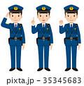 警察官 表情 ポーズ 35345683