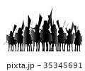 戦国時代の騎馬隊 35345691