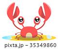 蟹 動物 甲殻類のイラスト 35349860