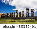 イースター島 モアイ像 世界遺産の写真 35352491