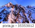 モルゲンロートの西穂高岳 35353012