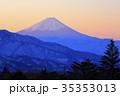 朝焼けと富士山 35353013