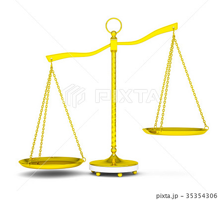 Balance scale over white background 35354306
