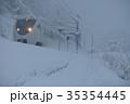 北陸本線 列車 冬の写真 35354445