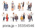美容師 キャラクター 文字のイラスト 35354546