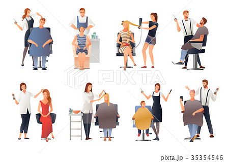Hairdresser Human Characters Set 35354546