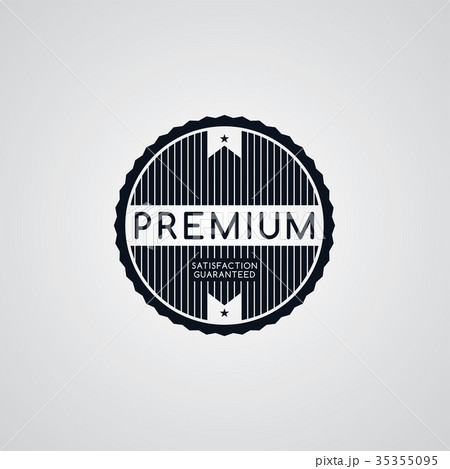 original premium label retro theme badge emblemのイラスト素材