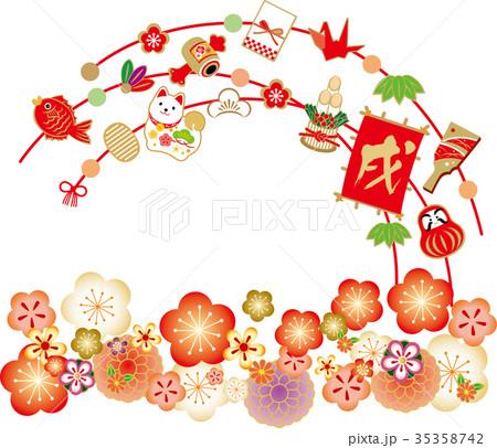 飾り正月 梅 35358742
