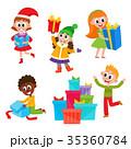 プレゼント 贈り物 子供のイラスト 35360784