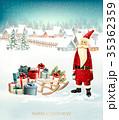 グリーティング xマス クリスマスのイラスト 35362359