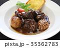 ブルギニョン 牛肉の赤ワイン煮込み フランス料理の写真 35362783