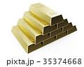 金 黄金 金色のイラスト 35374668