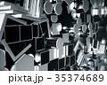 金属 鉄鋼 円柱形のイラスト 35374689