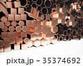 紅 銅 プロファイルのイラスト 35374692