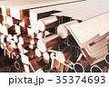 紅 銅 プロファイルのイラスト 35374693
