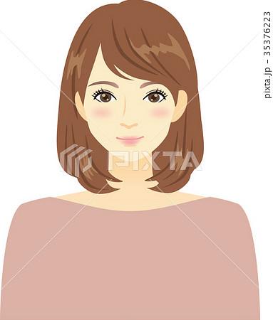 ミディアムヘアーの女性 35376223