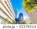 高層ビル 新緑 夏の写真 35376314