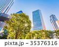 高層ビル 新緑 夏の写真 35376316