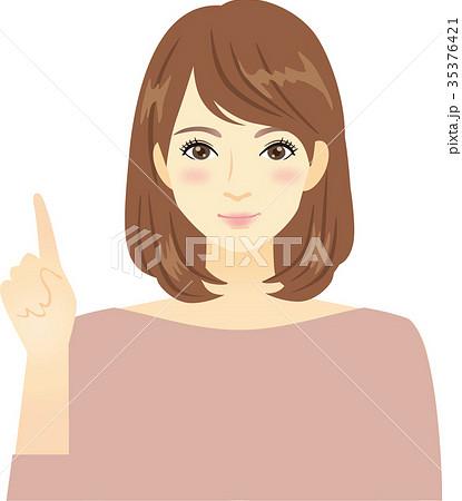 指差す女性 35376421