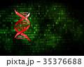 コンセプト デジタル 遺伝子のイラスト 35376688